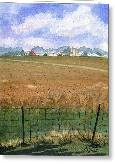 Farmers Field Greeting Cards - Beautiful Ohio Greeting Card by Marsha Elliott