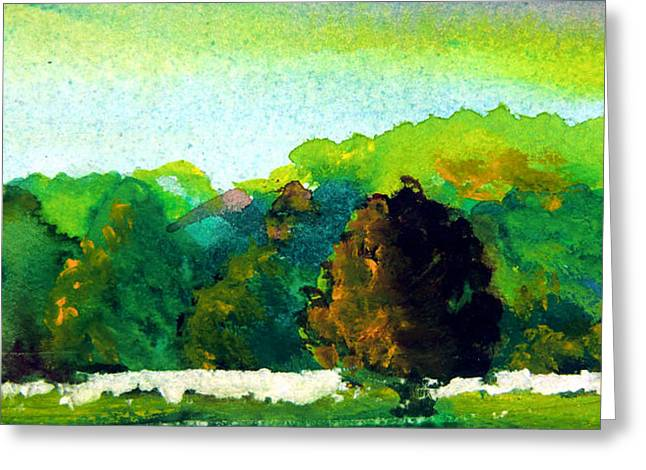 Autumn Landscape Drawings Greeting Cards - Beautiful Ohio Greeting Card by Mindy Newman