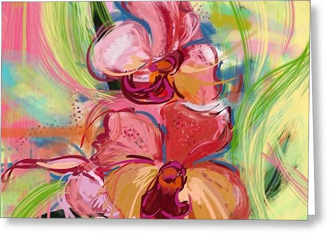 Aha Greeting Cards - Beautiful Orchids Greeting Card by Amy  Hashim