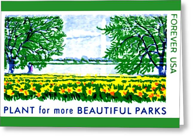 Lady Washington Greeting Cards - Beautiful Parks Greeting Card by Lanjee Chee