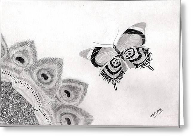 Beautiful Patterns In Nature Greeting Card by Selvam Venkatesan