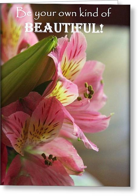 Beautiful Pink Lily Greeting Card by Anita Hiltz