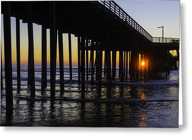 Beautiful Pismo Beach Sunset Greeting Card by Garry Gay