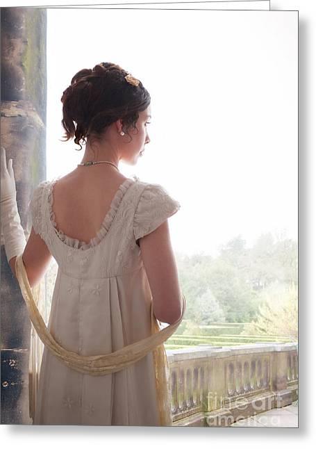 Puffed Sleeves Greeting Cards - Beautiful Regency Woman  Greeting Card by Lee Avison