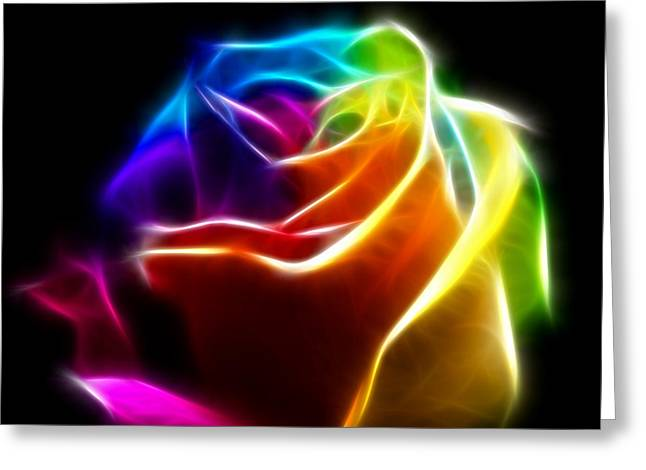 Colorful Roses Greeting Cards - Beautiful Rose of Colors No2 Greeting Card by Pamela Johnson