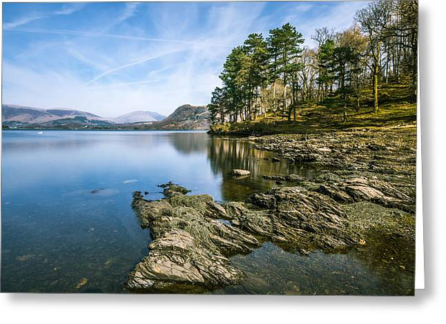 Cold Greeting Cards - Beautiful Scene At Derwentwater In The Lake District. Greeting Card by Daniel Kay