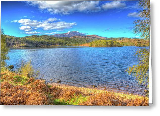 Beautiful Scottish Loch Garry Scotland Uk Lake West Of Invergarry On The A87 Hdr Greeting Card by Michael Charles