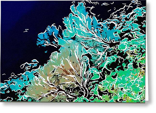 Seastar Paintings Greeting Cards - Beautiful Sea fan coral 1 Greeting Card by Lanjee Chee
