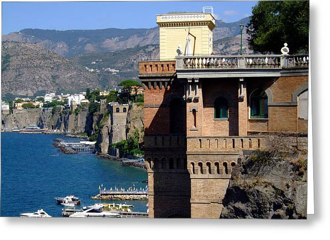 Yatch Greeting Cards - Beautiful Sorrento Italy Greeting Card by Mindy Newman