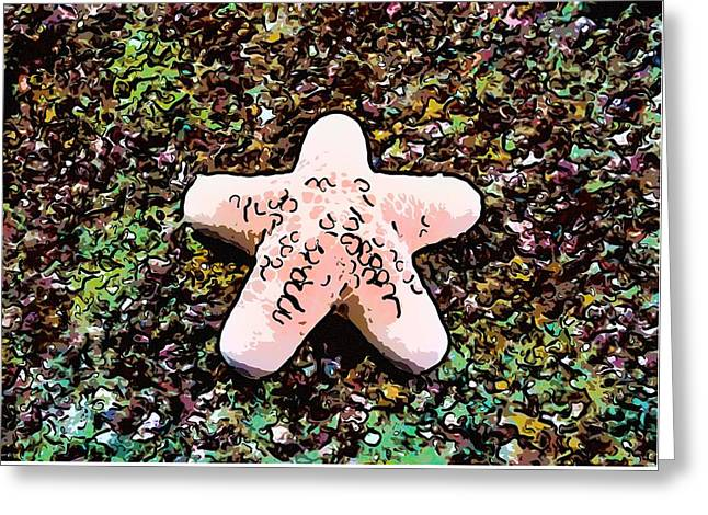 Seastar Paintings Greeting Cards - Beautiful starfish in the coral reef Greeting Card by Lanjee Chee