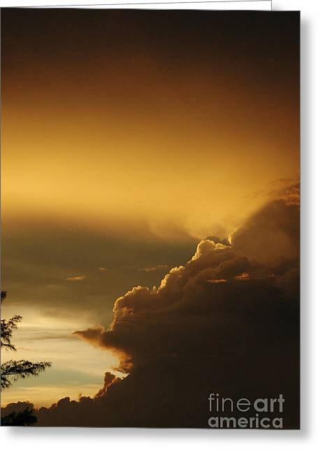 Ciel Greeting Cards - Beautiful sunset with Gold Clouds Greeting Card by ArtyZen Studios - ArtyZen Home