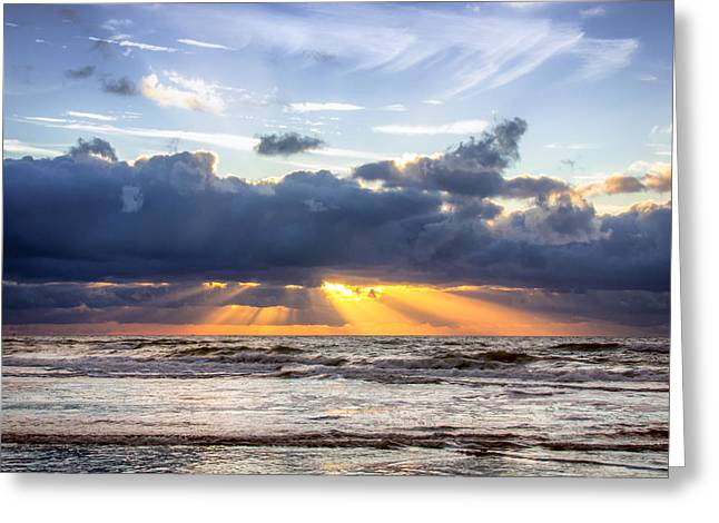 Sea View Greeting Cards - Beautiful Sunset Greeting Card by Alex Hiemstra