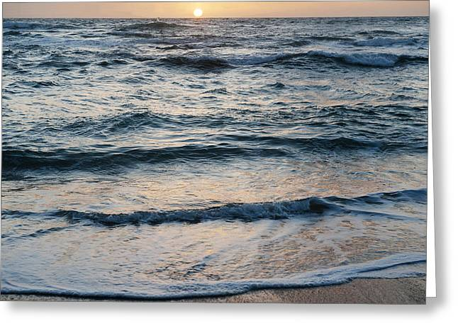Abstract Beach Landscape Greeting Cards - Beautiful Sunset Greeting Card by Yaniv Eitan