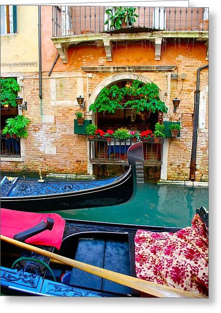 Venetian Balcony Greeting Cards - Beautiful Venice Greeting Card by Dorota Nowak