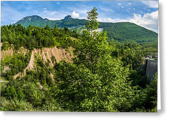 Flooding Greeting Cards - Nature taking back its place at Vajont Dam Greeting Card by JR Photography