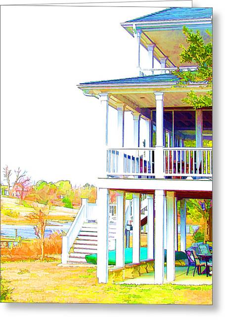 Spotless Greeting Cards - Beautiful waterfront home  Greeting Card by Lanjee Chee