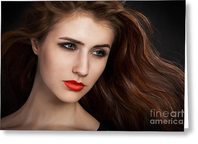 Female Body Greeting Cards - Beautiful Woman Greeting Card by Aleksey Tugolukov