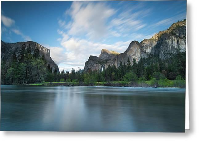Beautiful Yosemite Greeting Card by Larry Marshall