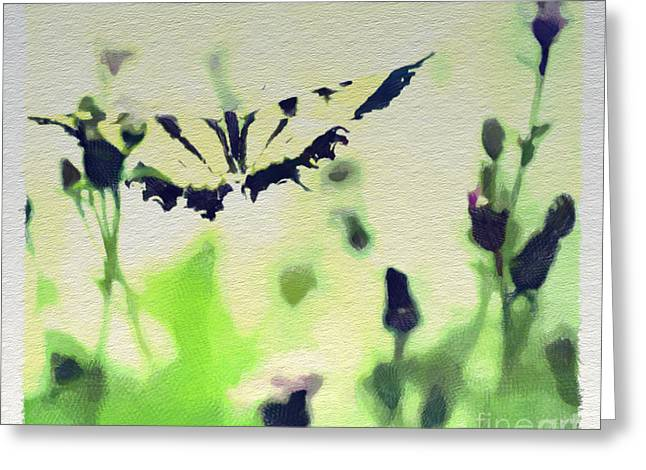 Tiger Swallowtail Digital Art Greeting Cards - Beauty and Grace 2 - Colored Pencil Greeting Card by Kerri Farley
