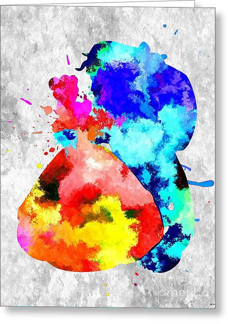 Musical Film Mixed Media Greeting Cards - Beauty and the Beast Greeting Card by Daniel Janda