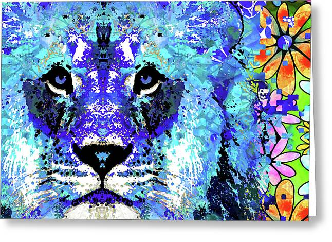 Beauty And The Beast - Lion Art - Sharon Cummings Greeting Card by Sharon Cummings