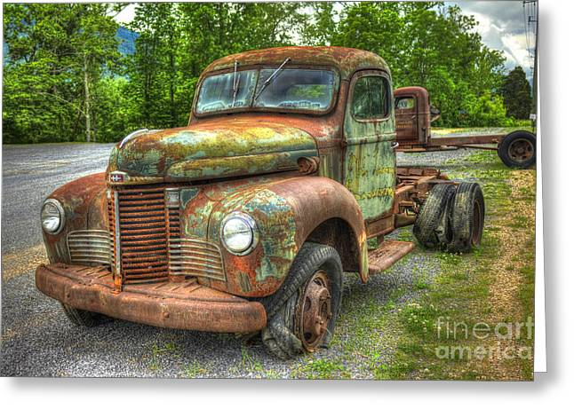 Beauty And The Best 1947 International Harvester Kb 5 Truck Greeting Card by Reid Callaway