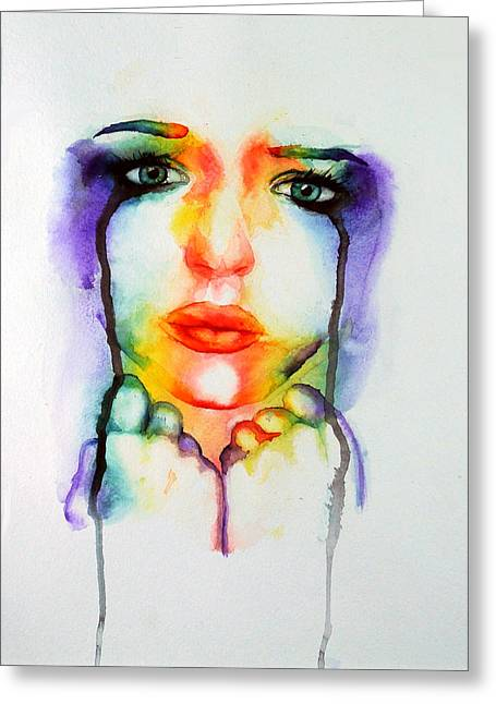 Chromatic Paintings Greeting Cards - Beauty and the Breakdown Greeting Card by Corin Newton