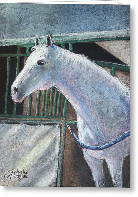 White Horse Pastels Greeting Cards - Beauty Greeting Card by Arline Wagner