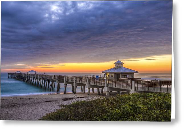 Surfer Art Greeting Cards - Beauty at Juno Beach Greeting Card by Debra and Dave Vanderlaan
