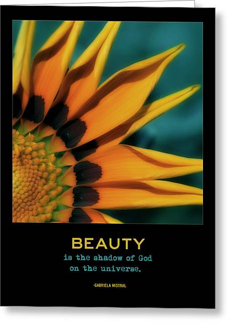 Floral Digital Art Digital Art Greeting Cards - Beauty Greeting Card by Bonnie Bruno