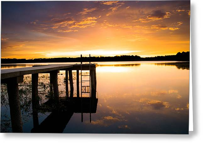 Lake House Greeting Cards - Beauty by the Dock Greeting Card by Parker Cunningham