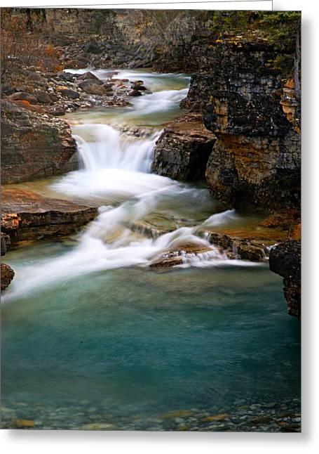 Beauty Creek Greeting Cards - Beauty Creek Cascades Greeting Card by Larry Ricker