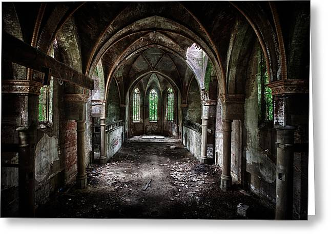 Church Greeting Cards - Beauty In Decay Greeting Card by David Van Bael