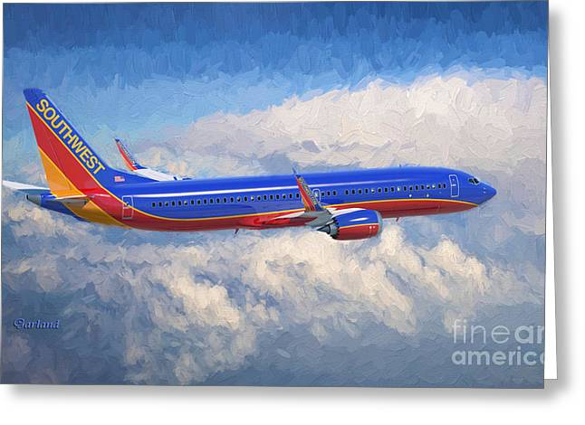 Beauty In Flight Greeting Card by Garland Johnson