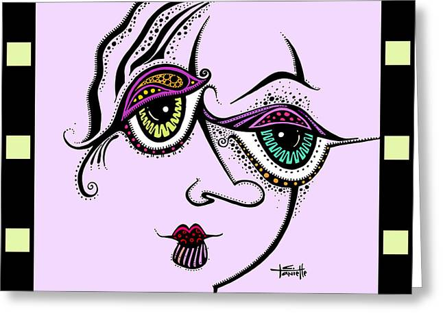 Ink Drawing Paintings Greeting Cards - Beauty In Imperfection - Color Greeting Card by Tanielle Childers