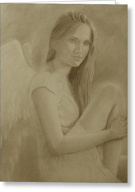 Angelical Greeting Cards - Beauty Greeting Card by Leonardo Pereznieto