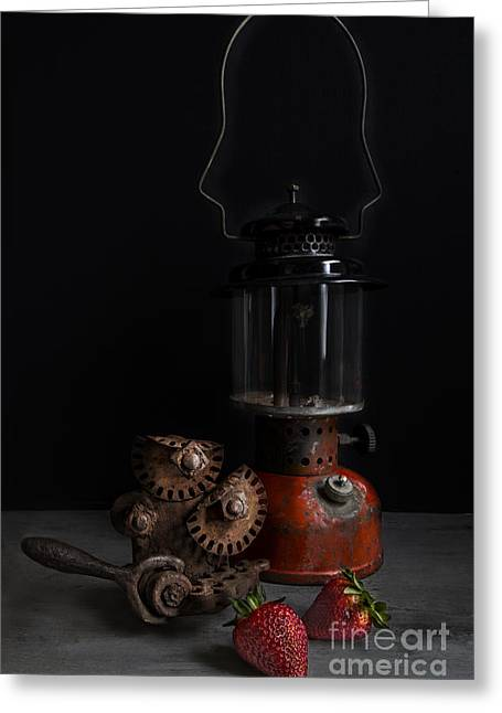 Kerosene Lamp Greeting Cards - Beauty of Rust Greeting Card by Elena Nosyreva