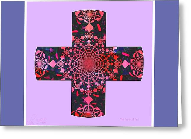 Religious Greeting Cards - Beauty of the Dark Greeting Card by Lawrence Nusbaum