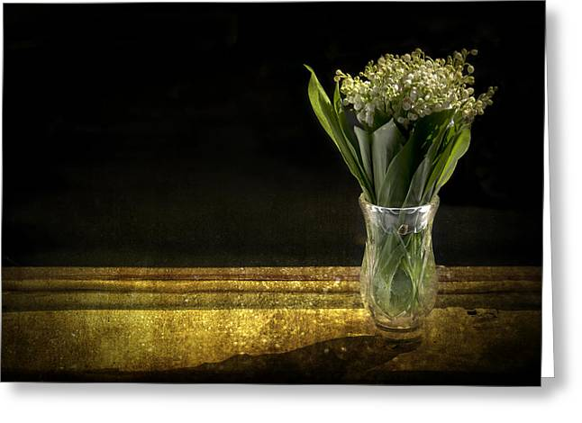 Vase Of Flowers Greeting Cards - Beauty of the Valley Greeting Card by Evelina Kremsdorf