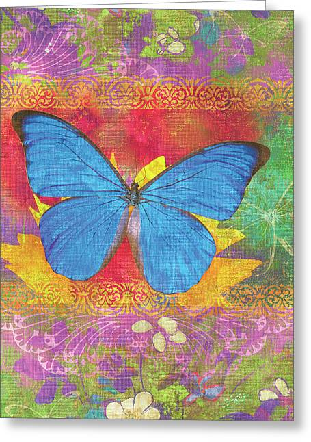 Insect Greeting Cards - Beauty Queen Butterfly Greeting Card by JQ Licensing