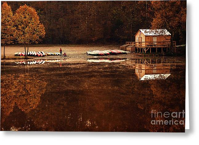 Beaver's Bend Quiet Morning Greeting Card by Tamyra Ayles