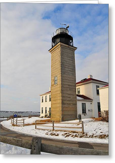 Beavertail Light Greeting Card by Catherine Reusch  Daley