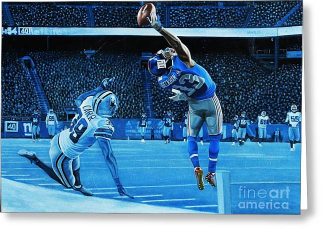 Pro Football Paintings Greeting Cards - BEckham LEGENDARY Greeting Card by Anthony Young