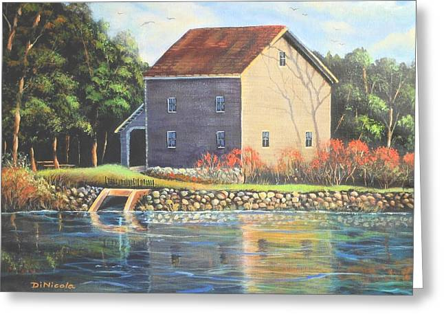 Saw Greeting Cards - Beckman Mill Greeting Card by Anthony DiNicola