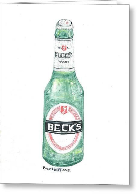 Label Greeting Cards - Becksbrew Greeting Card by Ben Hart