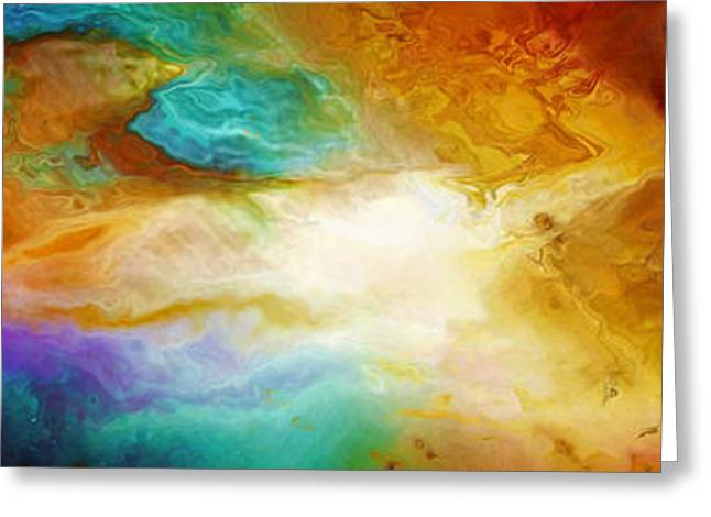 Print On Canvas Mixed Media Greeting Cards - Becoming - Abstract Art Greeting Card by Jaison Cianelli
