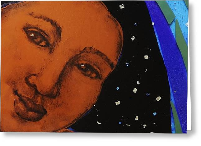 With Glass Art Greeting Cards - Becoming the Night Sky Greeting Card by Deborah Johnson