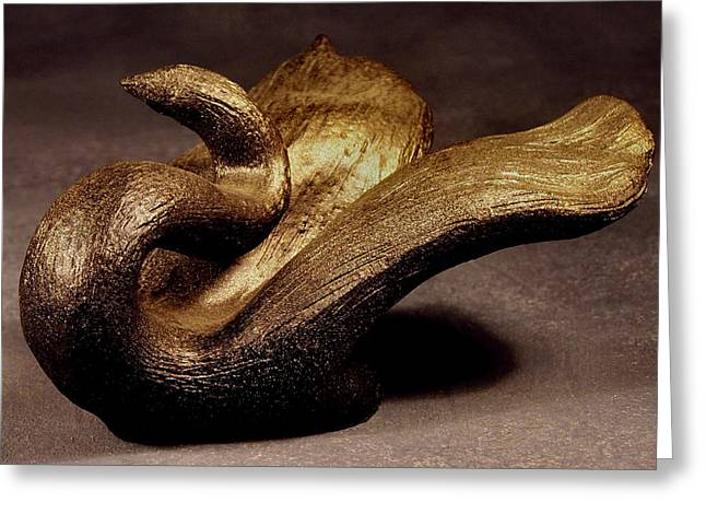 Swans... Sculptures Greeting Cards - Becoming The Swan Greeting Card by Lonnie Tapia