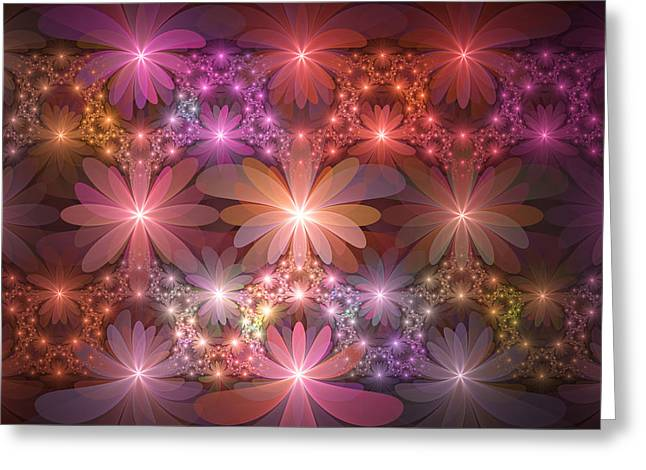 Bed Of Flowers Greeting Card by Gabiw Art