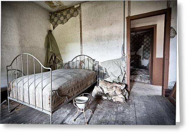 Abandoned Places Greeting Cards - Bed Time - Urban Exploration And Decay Greeting Card by Dirk Ercken